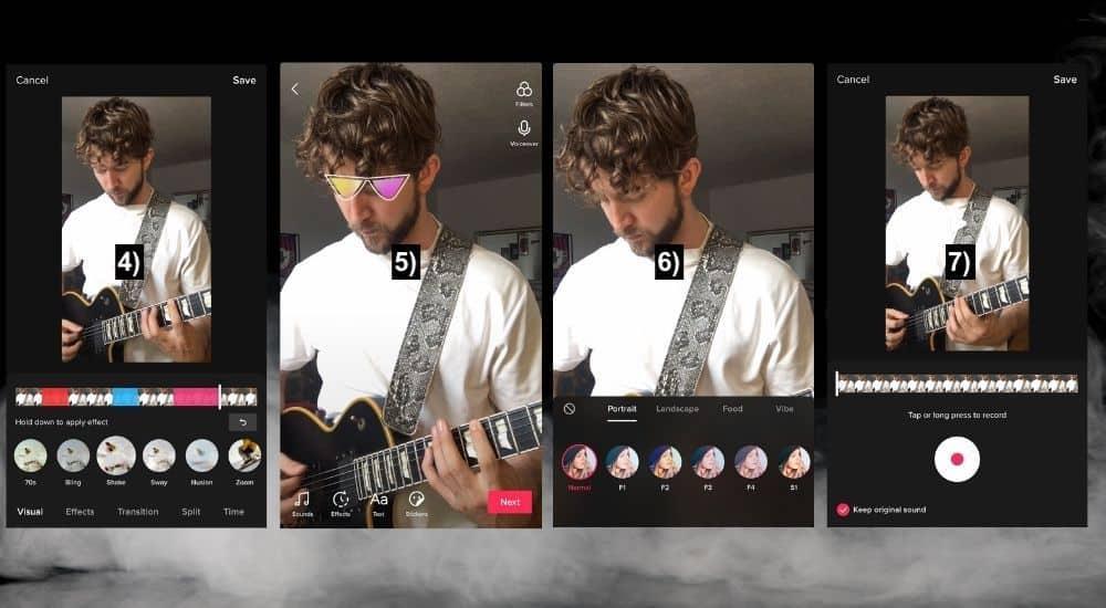 More TikTok Effects - Adding Effects - How to Make Guitar TikTok Videos