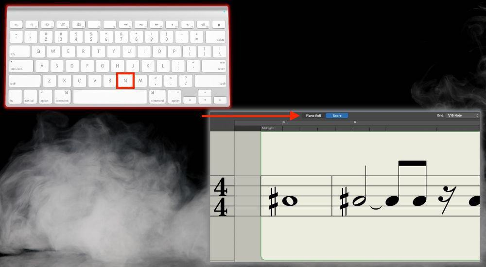 N Shows the Score Editor - Keyboard Shortcuts Article