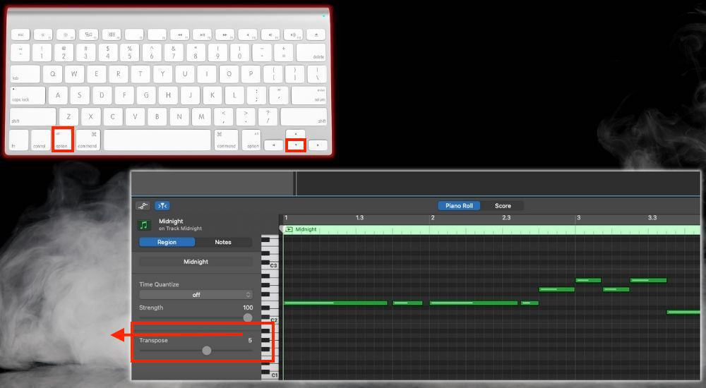 Option + Down Arrow Transpose - Keyboard Shortcuts