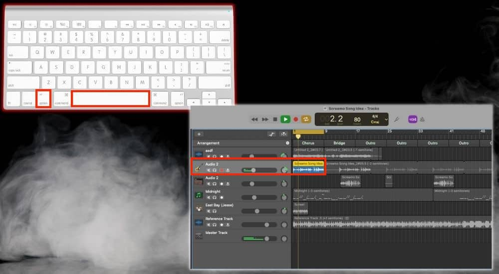 Option + Space Preview Audio - Keyboard Shortcuts