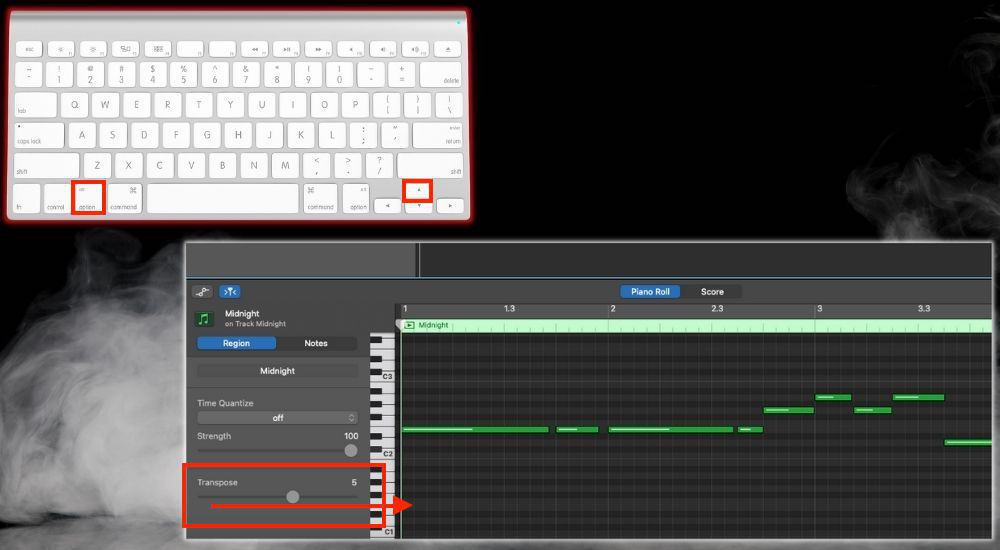 Option + Up Arrow Transpose - Keyboard Shortcuts
