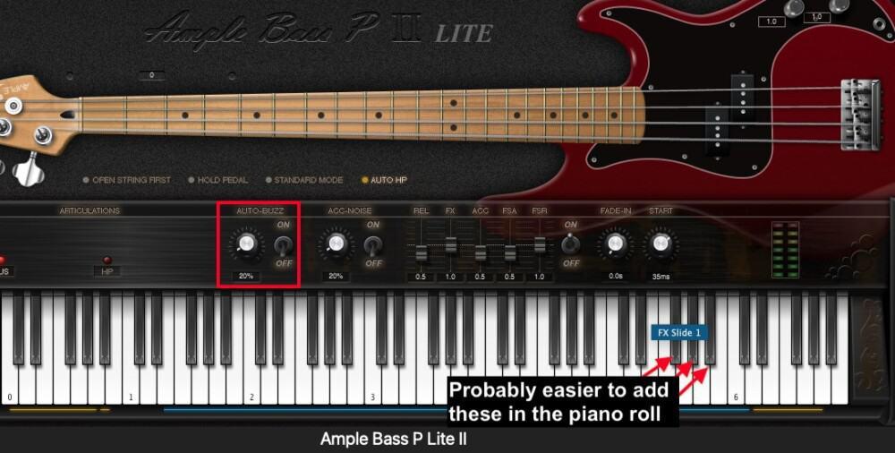 P Ample Bass Lite ii - Best Plugins for Garageband