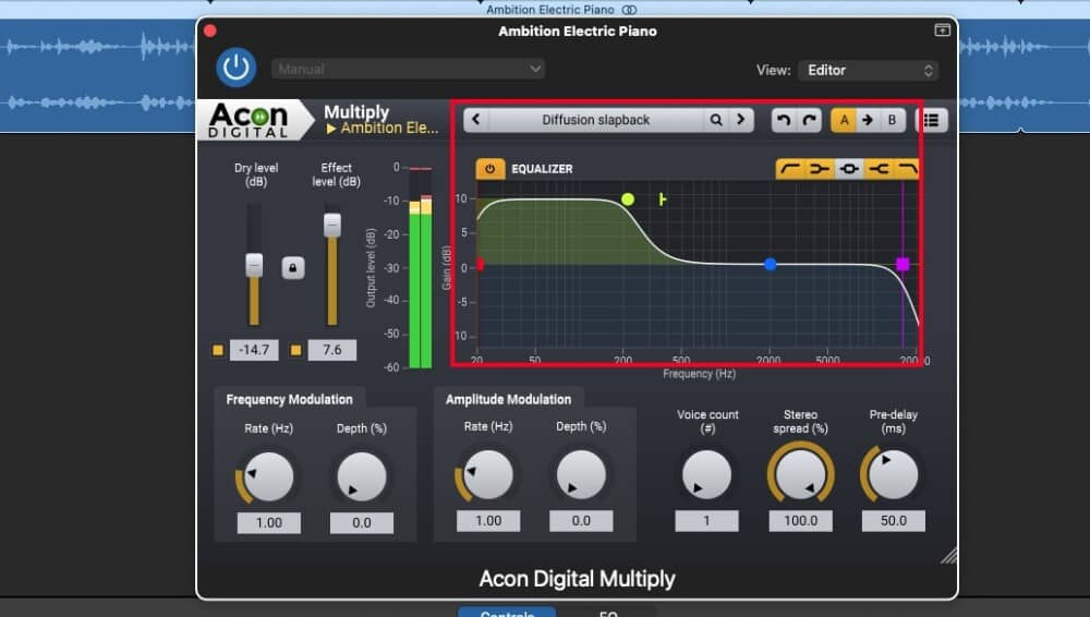 Acon Digital Multiply Chorus - Best plugins for Garageband preset