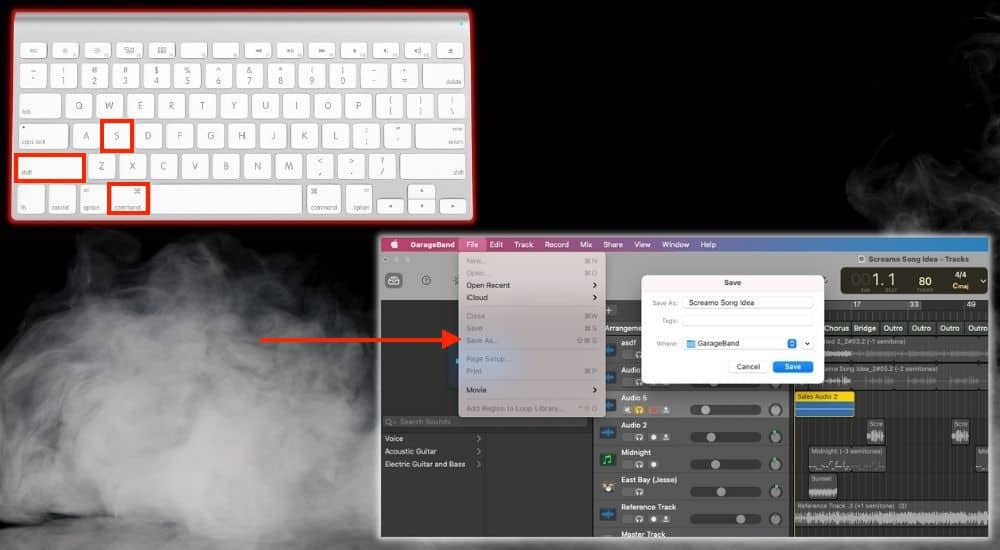 Shift + Command + S to Save As - Keyboard Shortcuts Article