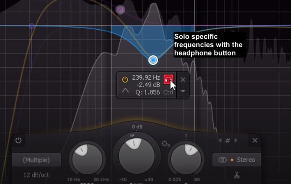 Solo with FabFilter Pro-Q EQ - Best Plugins for Garageband