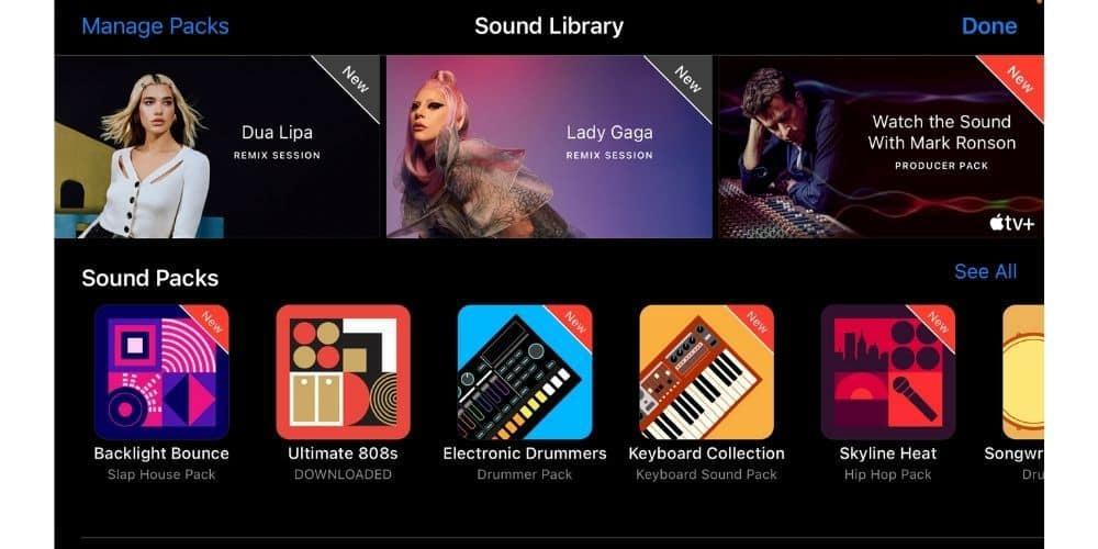 iOS Garageband Sound Library