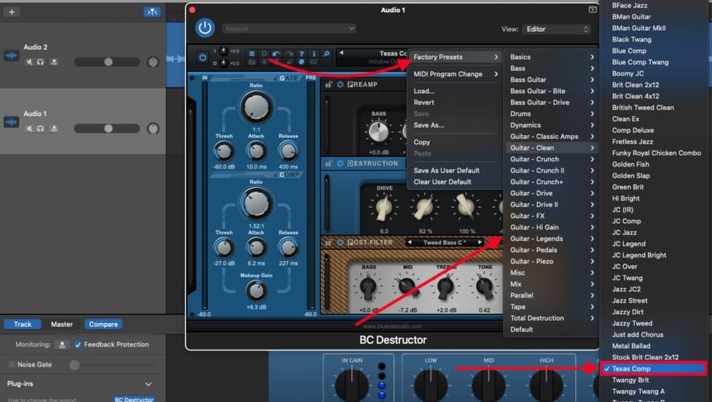 Texas Comp Blue Cat Audio's Destructor - Best Plugins for Garageband