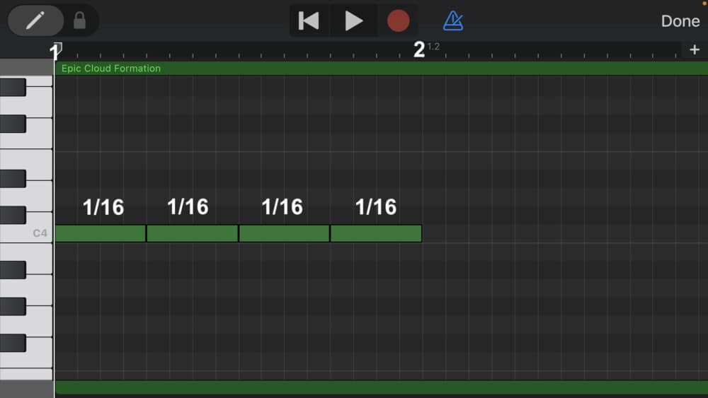 1/16 Notes - How to Make Triplets in Garageband iOS