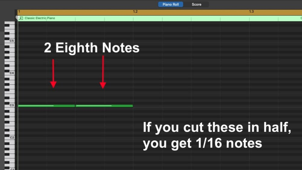 2 Eighth Notes - How to Make Triplets in Garageband iOS