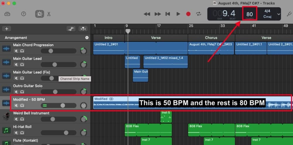 Done - How to Slow Down Your Audio in Garageband