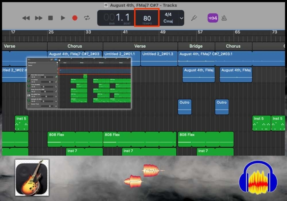 How to Slow Down Audio in Garageband - Featured Image