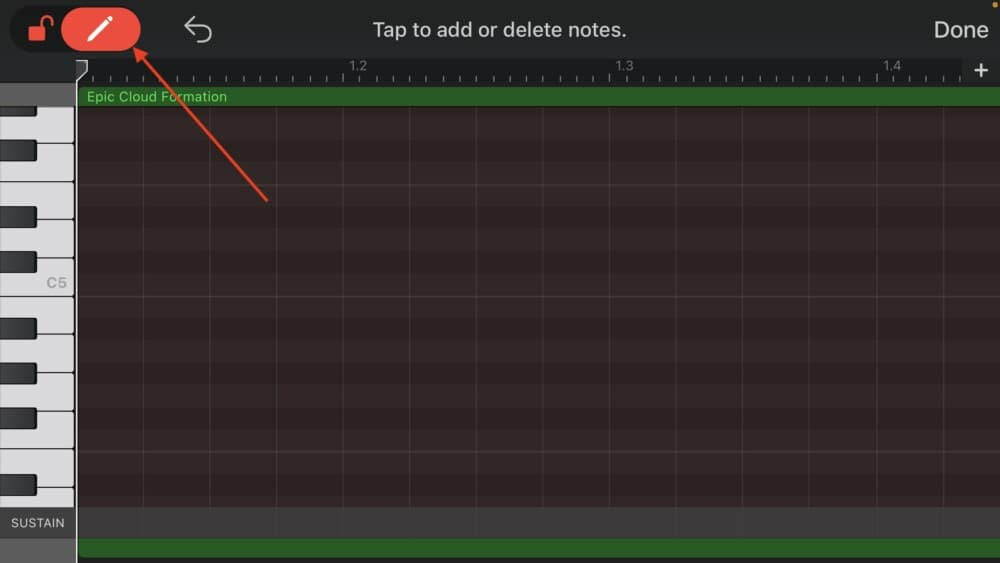 Pen/Lock Icon - How to Make Triplets in Garageband iOS