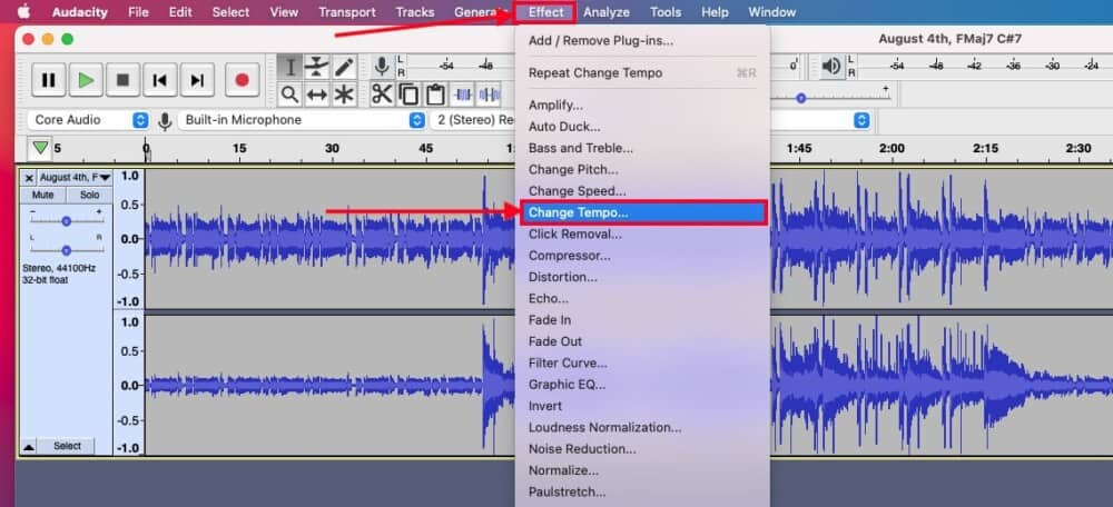 Change the Tempo - How to Slow Down Audio in Garageband